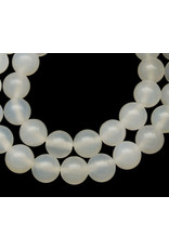 """Agate 8mm  White 15"""" Strand  approx  x46 Beads"""