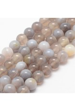 """Banded Agate 8mm  Grey/Brown Grade """"A""""  15"""" Strand  approx  x46 Beads"""