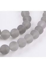"""Agate 8mm  Grey Matte 15"""" Strand  approx  x46 Beads"""