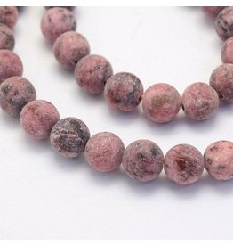 "Crazy Agate 8mm  Red/Brown  Matte 15"" Strand  approx  x46 Beads"