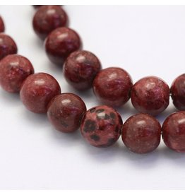 """Crazy Agate 8mm  Dark Red 15"""" Strand  approx  x46 Beads"""