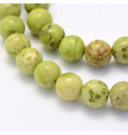 "Crazy Agate 8mm  Light Green 15"" Strand  approx  x46 Beads"