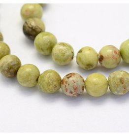 "Crazy Agate 8mm  Green/Brown 15""  Strand  approx  x46 Beads"