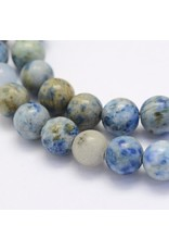 """Crazy Agate 8mm  Blue/Brown  15"""" Strand  approx  x46 Beads"""