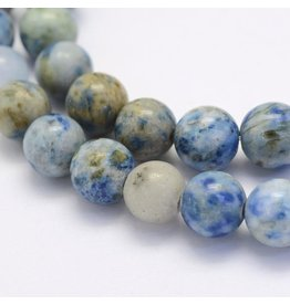 "Crazy Agate 8mm  Blue/Brown  15"" Strand  approx  x46 Beads"