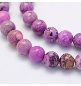 "Crazy Agate 8mm  Light Purple  15""  Strand  approx  x46 Beads"