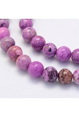 """Crazy Agate 8mm  Light Purple  15""""  Strand  approx  x46 Beads"""