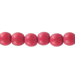 """Wood 6mm Red 15"""" Strand  approx  x65 Beads"""