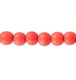 "Wood 6mm Orange 15"" Strand  approx  x65 Beads"
