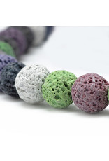 "Lava 6mm Multi  15"" Strand  apprx   x60 beads"