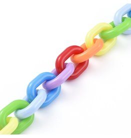 Acrylic Chain 19x14x4mm  Multi  x1m