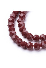 4mm Round Opaque Red  x95