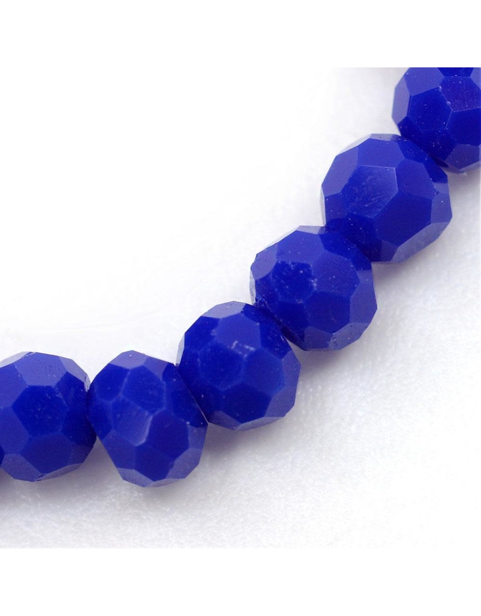 6mm Round  Opaque Dark Blue  x95