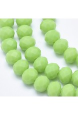 6x4mm Rondelle Opaque Light Green  x90