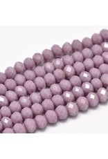 8x6mm Rondelle   Opaque  Light Purple x65