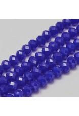 8x6mm Rondelle  Opaque Blue x65