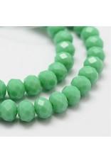 8x6mm Rondelle  Opaque Medium Sea Green  x65