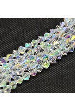 4mm Bicone Clear AB  'AA'  Grade  x95