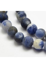 "Sodalite 8mm  Blue/White  Matte 15""mm Bicone  Pink   'AA'  Grade  x95 Strand  approx  x46 Beads"