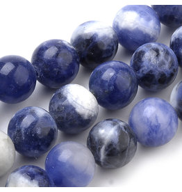 """Sodalite 8mm  Blue/White  15"""" Strand  approx  x46 Beads"""
