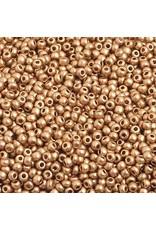 Czech 2211 10   Seed 20g Old Gold Matte Metallic