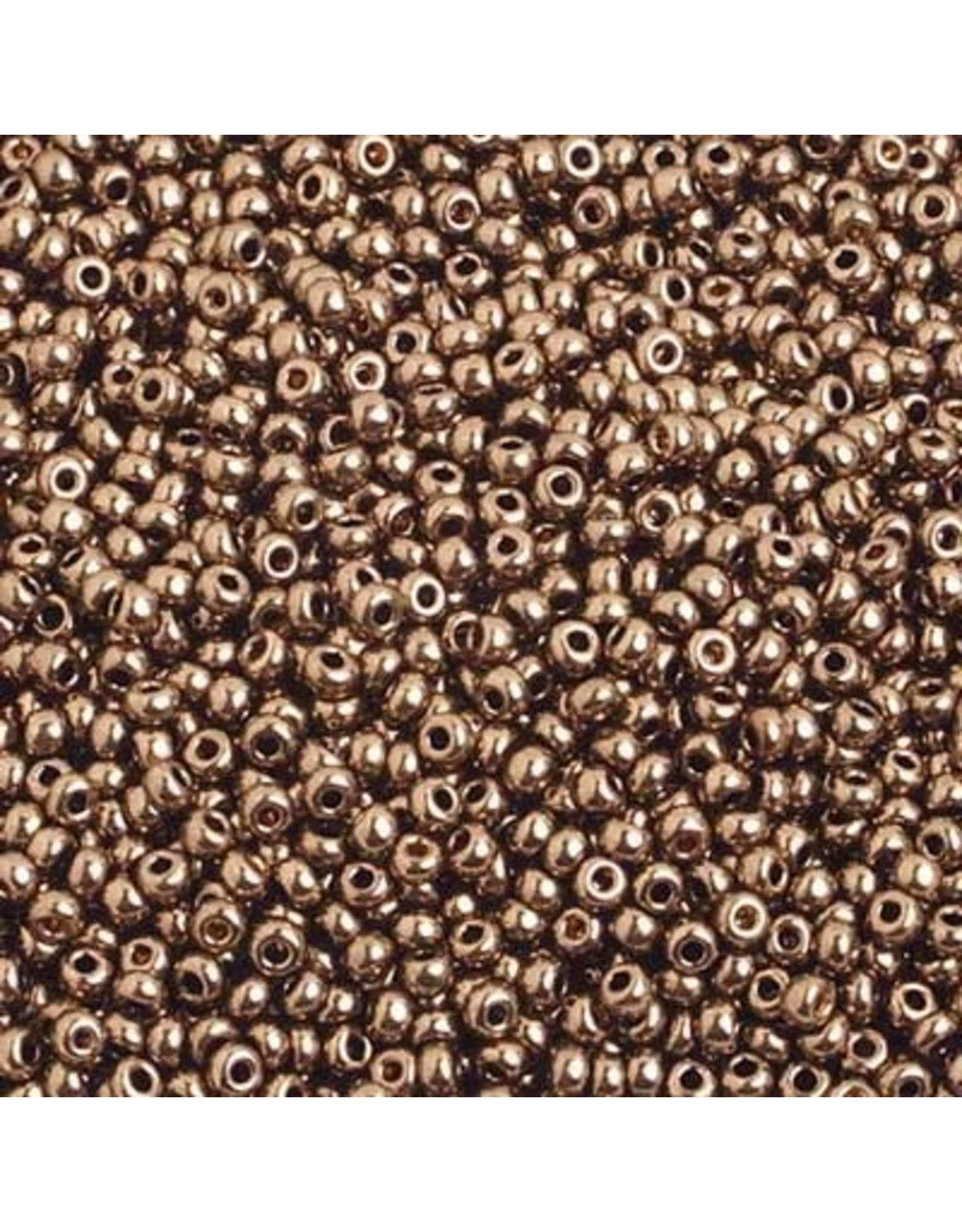 Czech *17582 10   Seed 10g Bronze Brown Metallic