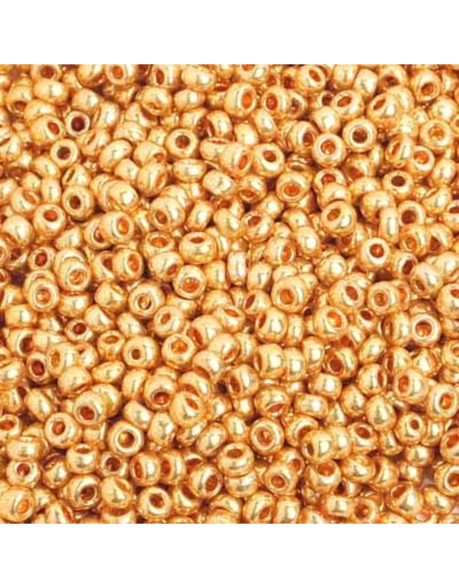 Czech 201605 8   Seed 20g  Gold Metallic