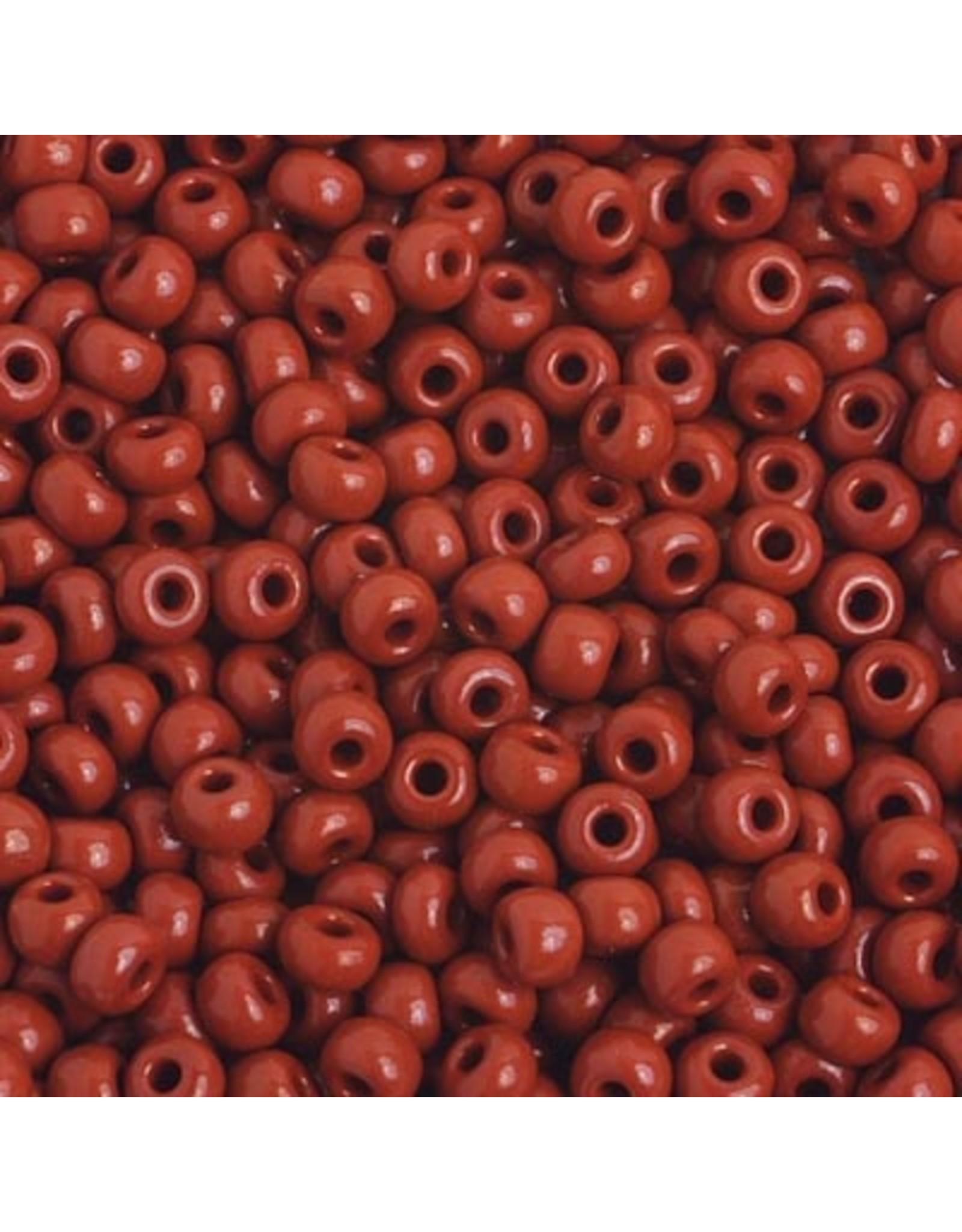 Czech 401641 6 Czech Seed 20g  Opaque Medium Brown
