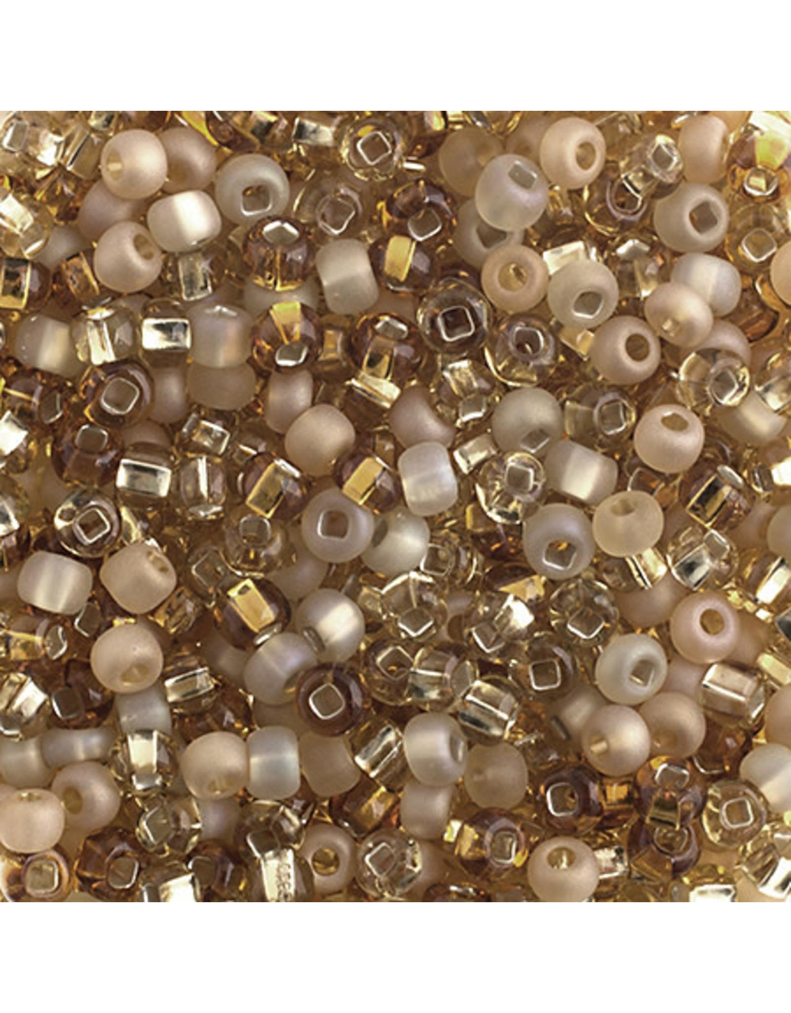 Czech 40092 6   Seed 20g  Topaz Brown Mix
