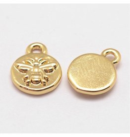 Bee  10mm  Real 18k Gold Plated  NF  x1