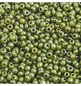 Czech *2381 10 Czech Seed 10g  Opaque Olive Lustre