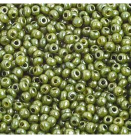 Czech *2381 10   Seed 10g  Opaque Olive Lustre