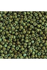 Czech 201724 8 Czech Seed 20g Opaque Turquoise Green Travertine