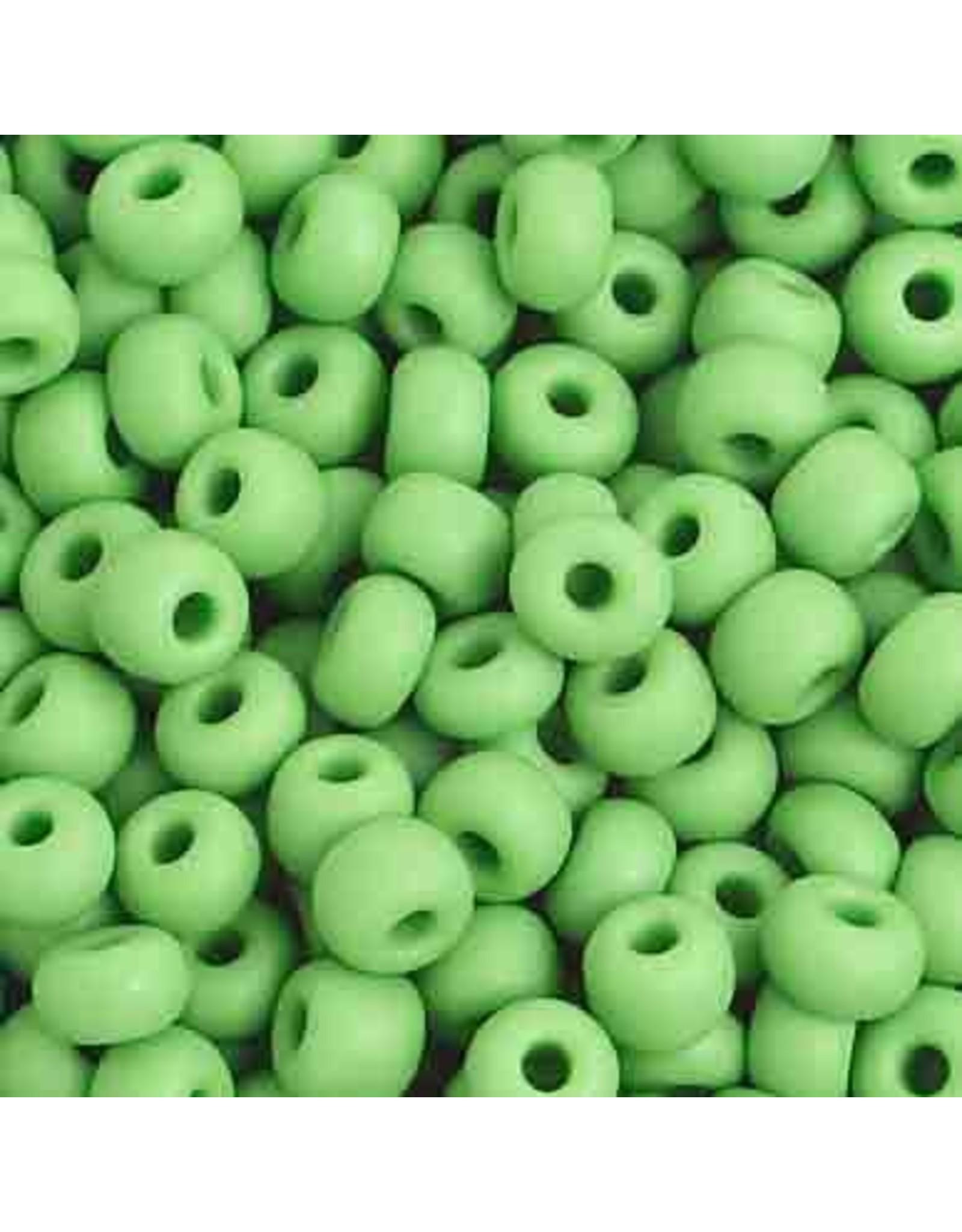 Czech 401001  6 Czech Seed 20g  Opaque Light Green Matte