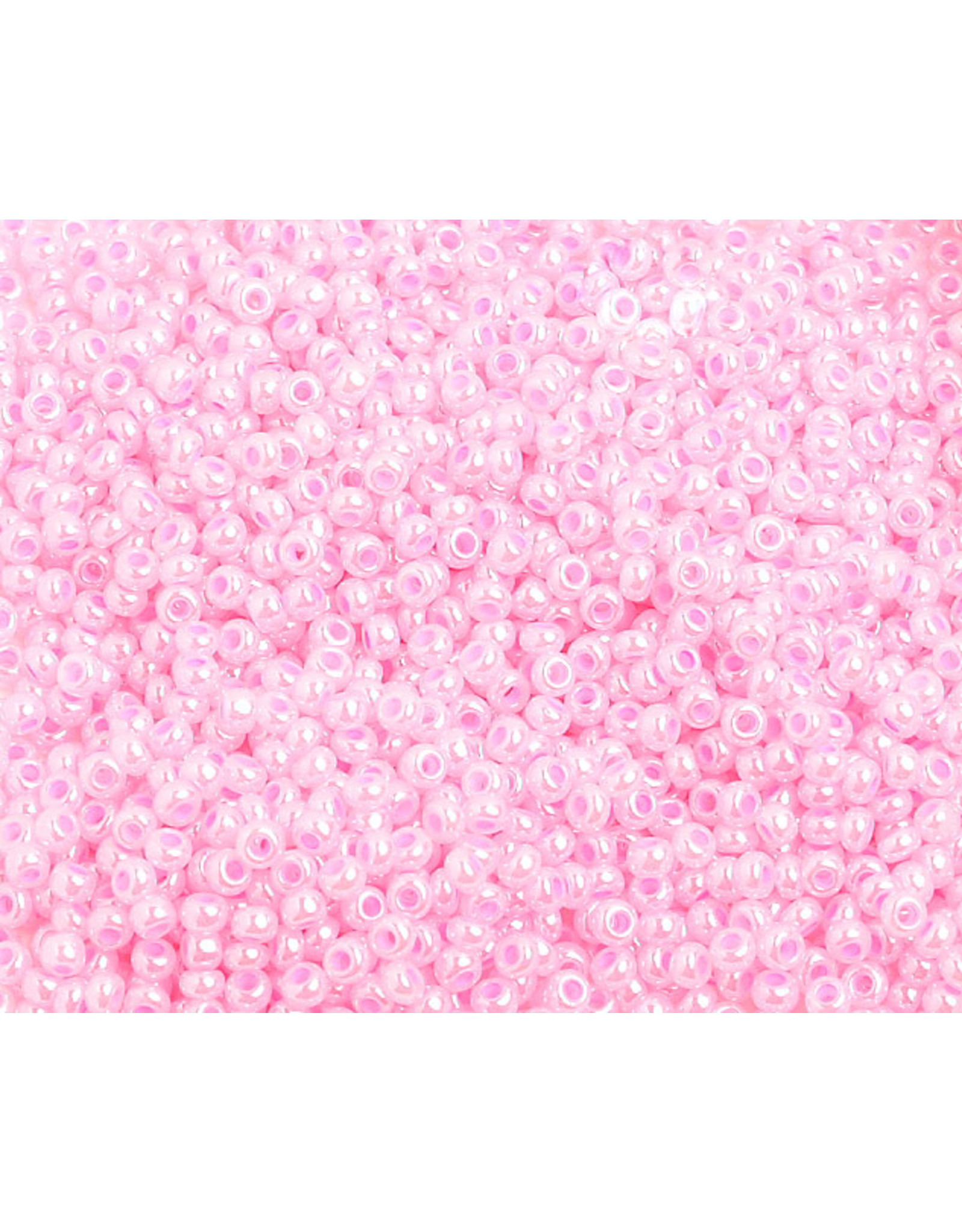 Czech 1429 10 Czech Seed 20g Pink Rose Pearl Dyed