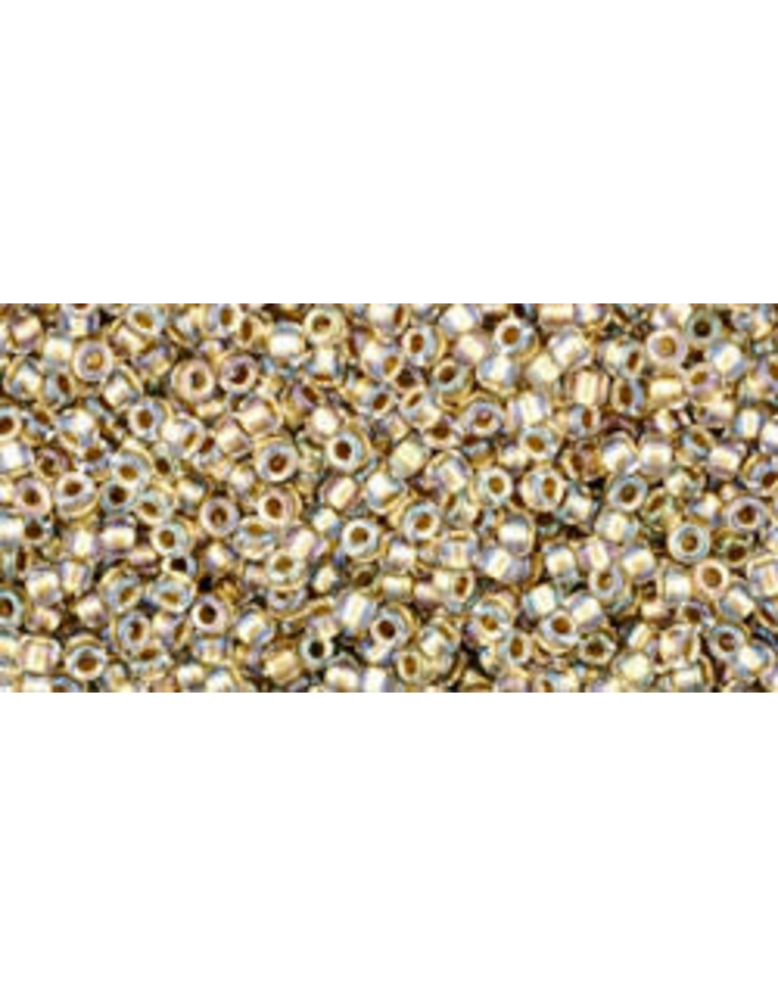 Toho 262 15  Seed 6g   Clear Gold s/l