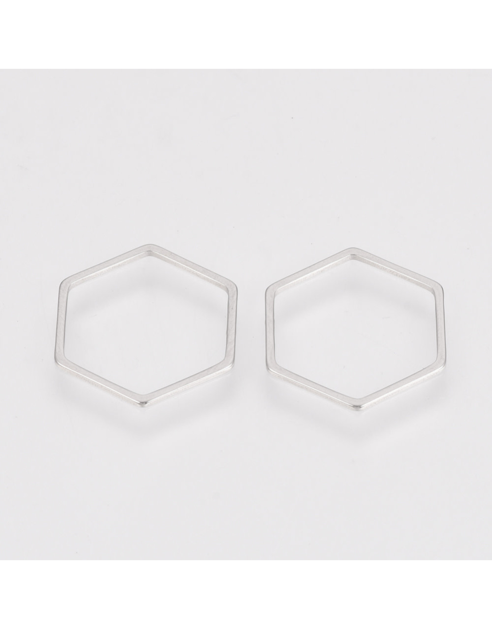 Hexagon Link  14x12mm Stainless Steel  x5  NF