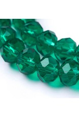 8x6mm Rondelle  Transparent Sea  Green   x65