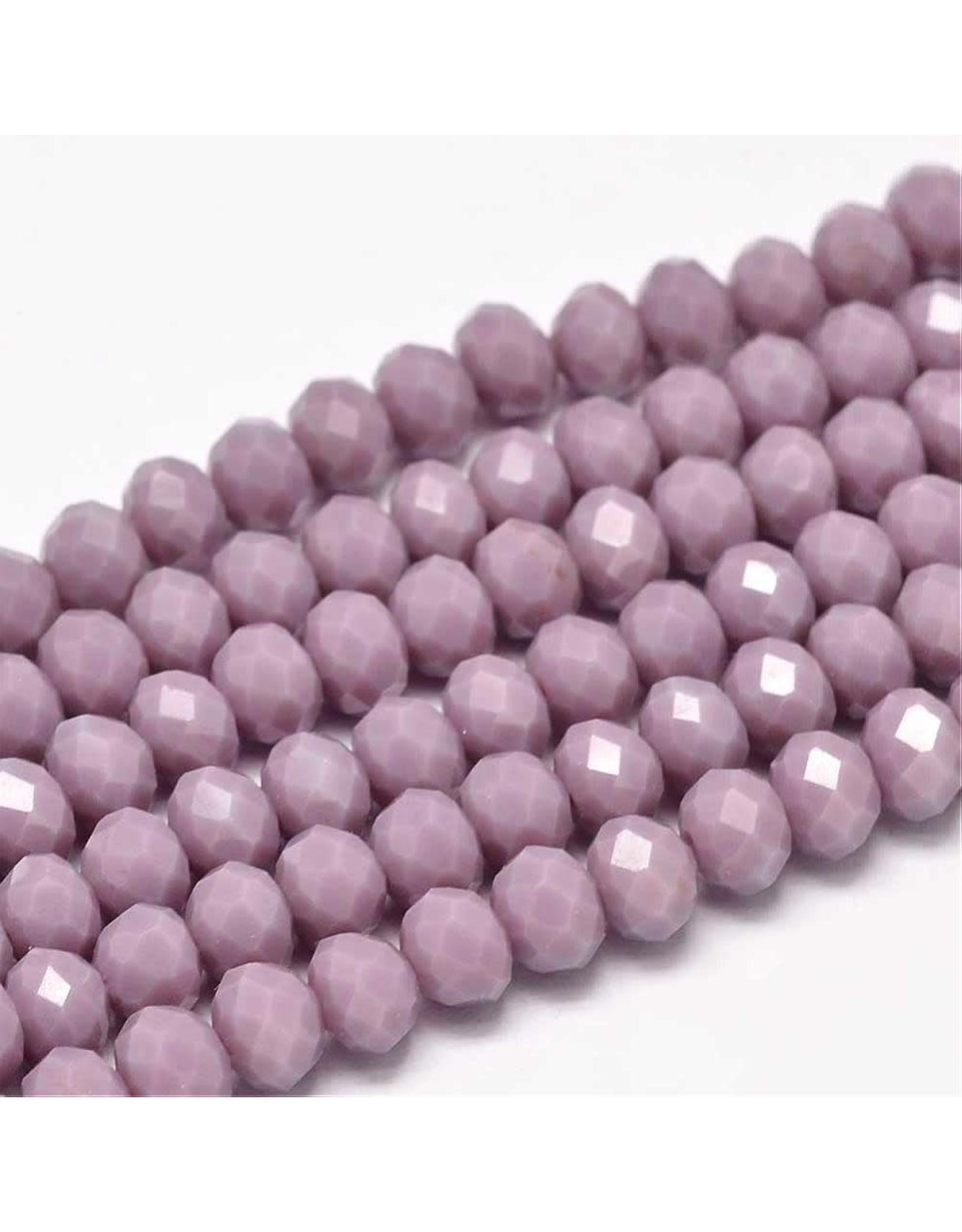 8x6mm Rondelle  Opaque Plum Purple   x65