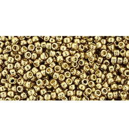 Toho pf592  Round 6g  Fleece  Gold Metallic