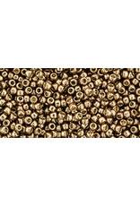 Toho pf593 Toho Round 6g  Almond  Gold Metallic