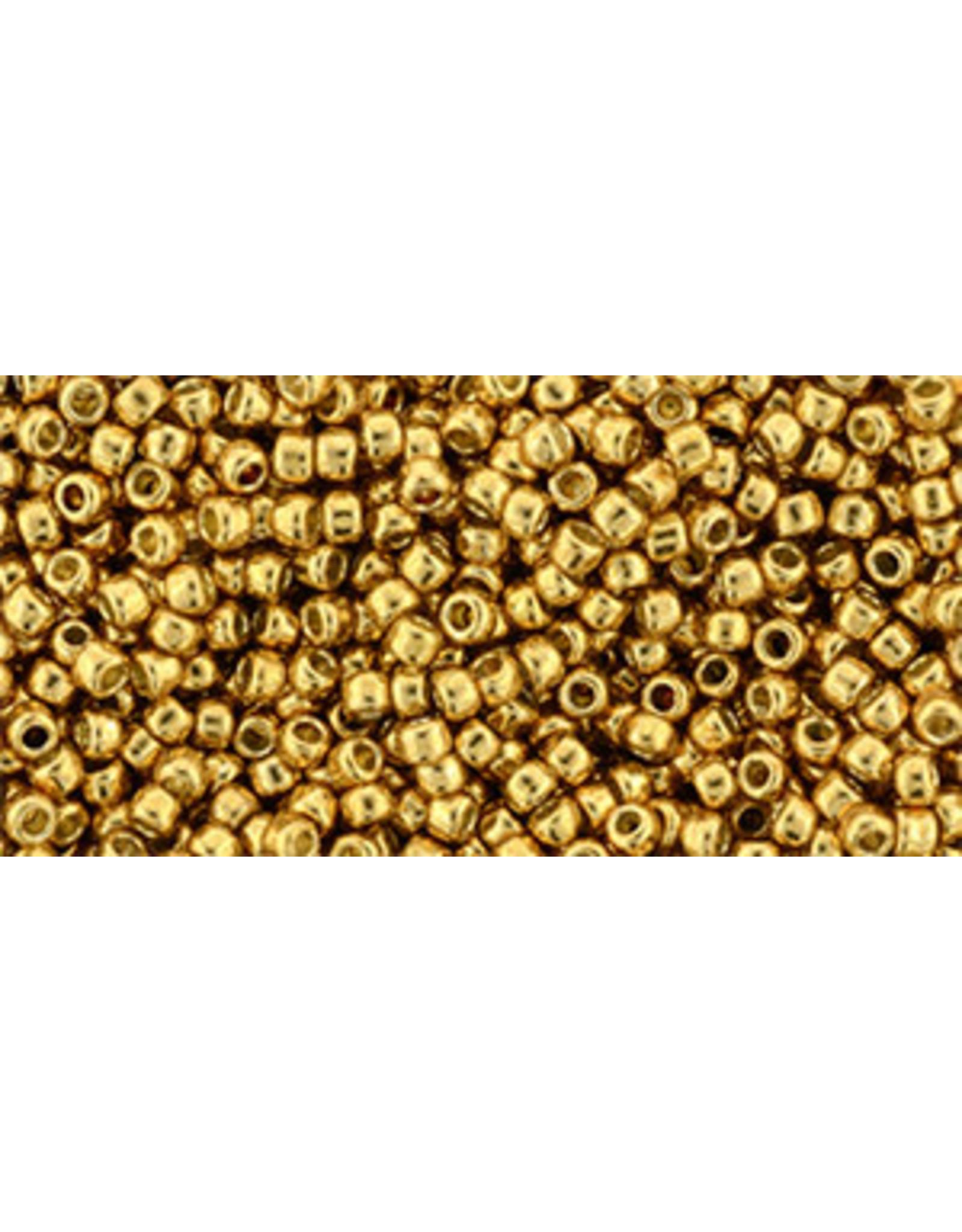 Toho pf591B 11 Toho Round 40g  Old Gold Metallic