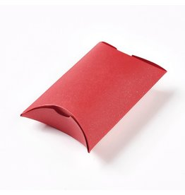 Kraft Paper Pillow Box  Red  7x9x3cm  x10