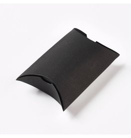 Kraft Paper Pillow Box  Black 7x9x3cm  x10