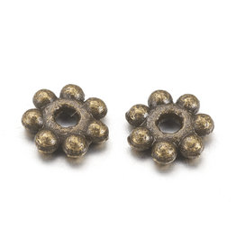 Daisy Spacer Bead Antique Brass 4mm x100 NF