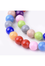 10mm  Round   Glass Pearl Mix  approx  x40