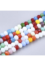4x3mm Rondelle Mixed Colours x70