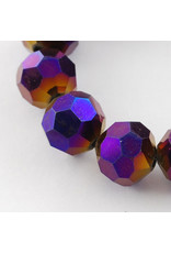 4mm Round  Opaque Purple AB  x95