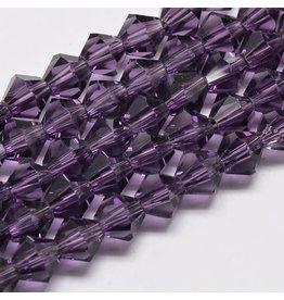 4mm Bicone Purple   'AA'  Grade  x95