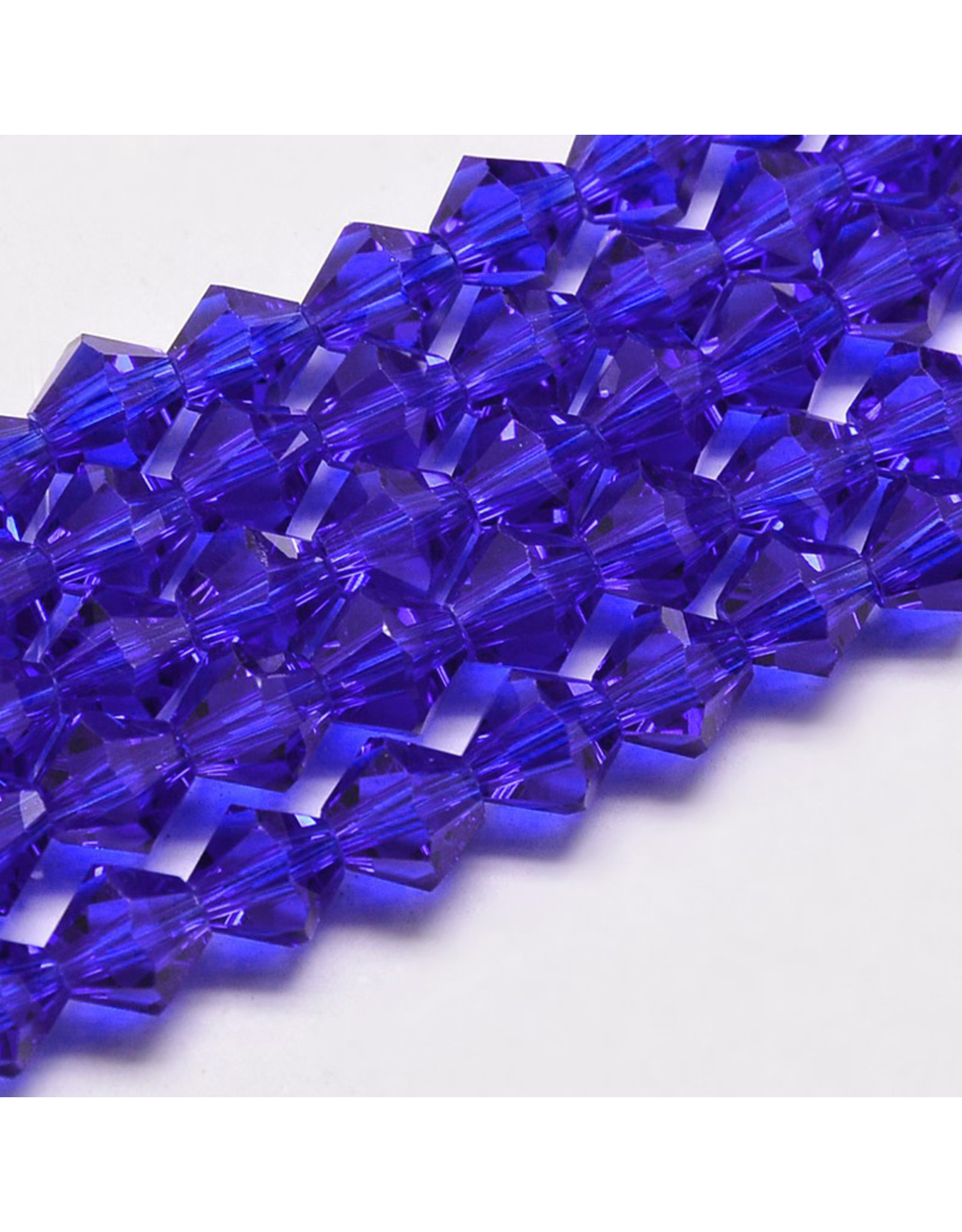 4mm Bicone Dark Sapphire Blue   'AA'  Grade  x95